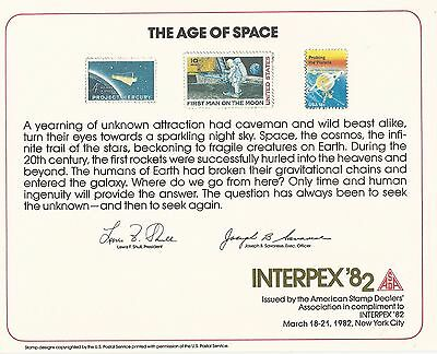 Usa Interpex 1982 Age Of Space  Large Card