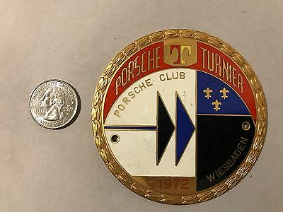 1972 Porsche Club Wiesbaden Turnier Tournament Rallye Enamel Car Badge