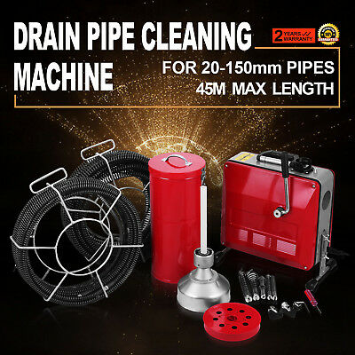 20-150mm Ø Pipe Drain Cleaner Machine Cleaning Equipment Commercial Local 390W