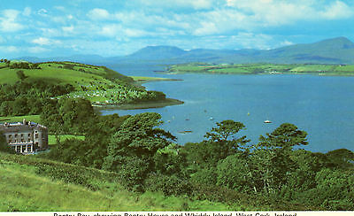 postcard Ireland  Bantry Bay showing Bantry House and Whiddy  Island Co. Cork