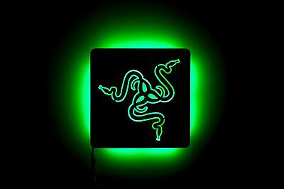 Lighted Razer Sign Lamp - Acrylic - Night Light and Wall Art for Fans of Razer