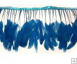 Turquoise Coque Tails Stripped Strung