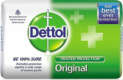 Dettol Soap Value Pack, Original - 3 Pieces X 125 gm fighting germs compared