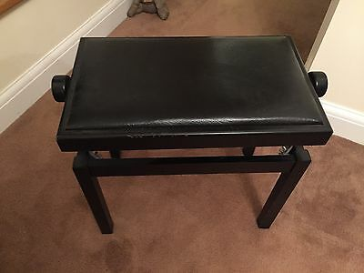 Piano stool wooden black height adjustable