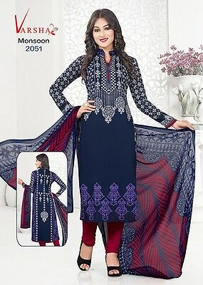 Unstitched Ramadan Salwar Kameez Synthetic Indian Dress Material Ladies Suit