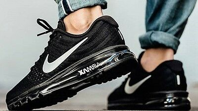 Nike Air Max 2017 Athletic Black Mens Running Trainers Sneakers Shoes Brand New
