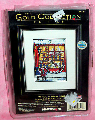 Dimensions Gold Collection Petite Window Shopping Counted Cross Stitch Kit 8722