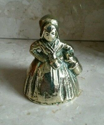 Vintage Antique solid Brass Lady with pale .