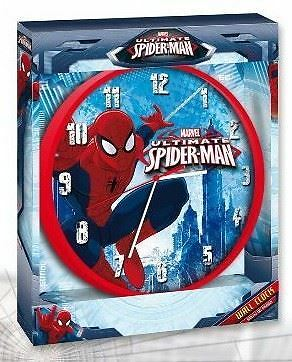 Officially Licensed MARVEL ULTIMATE SIPIDER-MAN SPIDERMAN WALL CLOCK Kids Clock