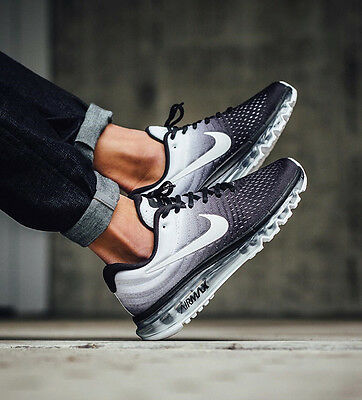 Nike Air Max 2017 Athletic Black White Mens Running Trainers Sneakers Shoes New