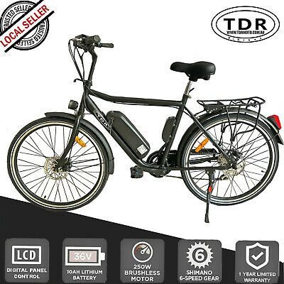 10AH 36V 250W PEDAL  ASSIST Electric  BICYCLE EBIKE LITHIUM Battery Shimano Gear