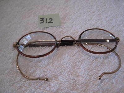 Vintage antique gold and tortishell round spectacles