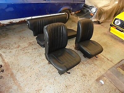 ford  escort mk2 ...estate ....front and rear seats in black.