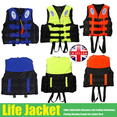Adult Swimming Life Jacket Kayak Ski Buoyancy Aid Sailing Watersport Impact Vest