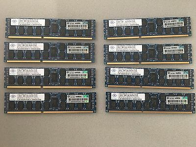 96GB PC3-10600R  - 12 * 8GB Original HP memory P/N 500205-071
