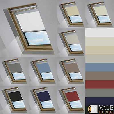 Blackout Skylight Blinds For Velux Windows Every Size & Colour (Vale Model)