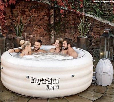Bestway Outdoor Portable Lay Z Spa Massage Bath Pool 4-6 People Inflatable