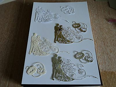 Tattered Lace 2016 Bride/groom/rings Die Cuts X 8 Sets Mixed Colours