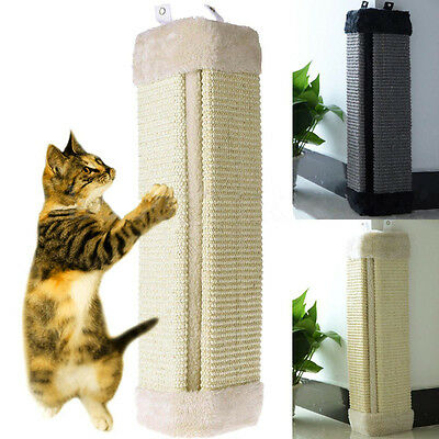 Nouveau Pet Cat Kitten Corner Wall Hanging Scratching Board Post Jouet Scratcher