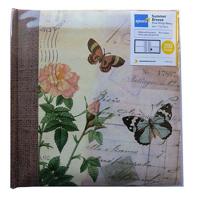 Summer Breeze Rose Photo Album - Memo Writing Space - Holds 200 Photos (6 x 4)