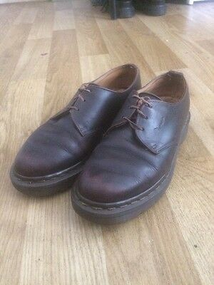 Vintage Dr Martens Size 3 Made In U.K. Brown leather Shoes