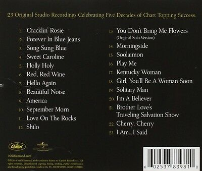 NEIL DIAMOND - ALL TIME GREATEST HITS CD ~ BEST OF 70's 80's *NEW*