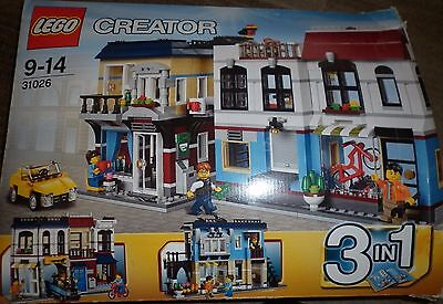 Lego 31026 BIKE SHOP & CAFE - Large Set - Complete in Box - Town City