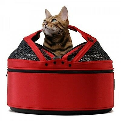 Sleepypod Mobile Cat Carrier & Bed, Red  - Crash Tested! Stress Free Cat Travel