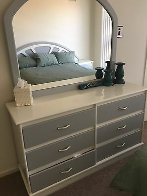 Tall Boy With Mirror Bedside Tables And Bed Head