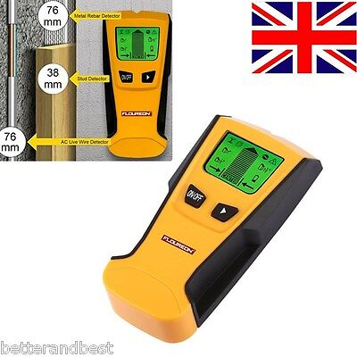 UK 3in1 LCD Stud Wood Wall Center Finder Scanner Metal AC Live Wire Detector New