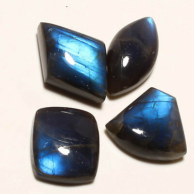 LABRADORITE 4 PIECES GEMSTONE CABACHON  FANCY SHAPE 76 Carat
