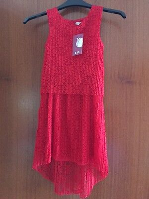 TU red girls party dress age 7 years