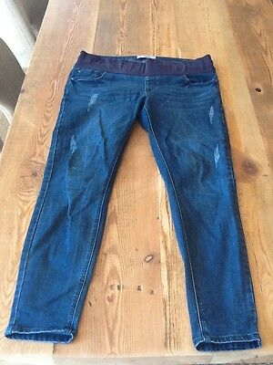 New Look Maternity Under Bump distressed Jeggings / Skinny Jeans (Size 12)