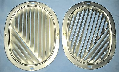 1958-1963 Set Of Chevrolet Impala Chrome Fresh Air Kick Panel Vent Covers Chevy
