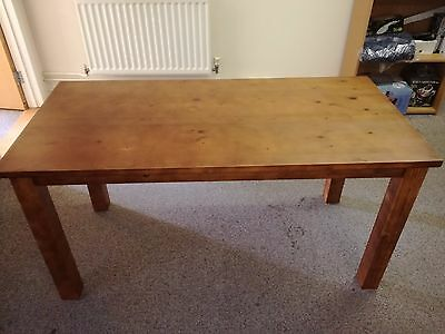 Cheap Solid Wood Dining Table Madison Walnut Effect 150cm(w) x 73cm(d) x 75cm(h)