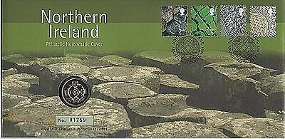 "GB Stamps 2001 ""Northern Ireland"" Royal Mint £1 Coin First Day Cover"