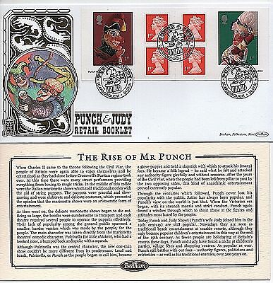 "2001 ""Punch & Judy Retail Booklet"" Limited Edition Benham ""GOLD"" First Day Cover"