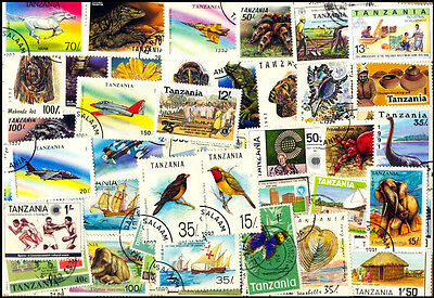 TANZANIA-100 All Face Different Thematic Stamps Sports-Large & Small