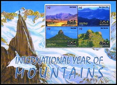 LESOTHO 2002, Inter Year of the Mountains, Sheet of 4 Stamps, MNH-S.G. 1893-1896
