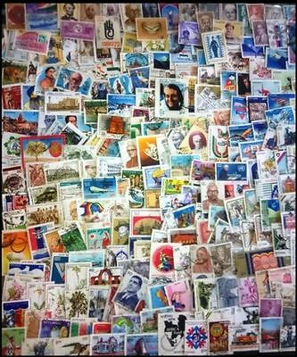 INDIA USED LARGE COMMEMORATIVE ONLY-1000 All Different Used Postage Stamps