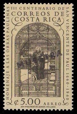 COSTA RICA 1960-SPECIMEN STAMPS-Stained Glass Window, St. Vincent de Paul-MNH