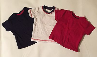 Baby Boys 0-3 Months Baby And Pitter Patter X3 Short Sleeve T-shirts Tops