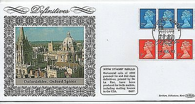 "4-7-2001 ""New Definitive Stamp Rolls"" Limited Edition Benham First Day Cover"