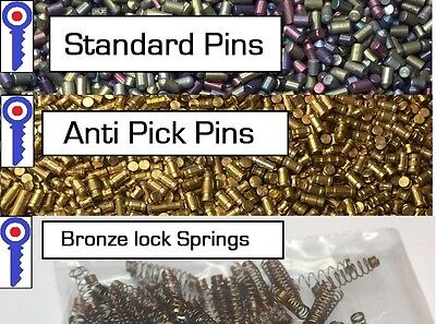 Lock practice anti-pick pins x 100 Normal pins x 100 springs x 100  1st P&P