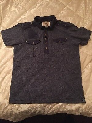 Men's Next Navy Polo Shirt Size M