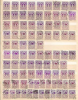 ++ Austria POSTAGE DUE STAMPS Lot /  Fiscal / Revenue ++