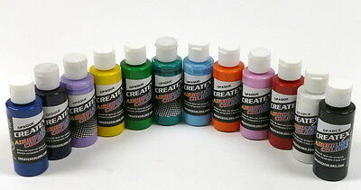 Createx kit 12 colori coprenti aerografo 60 ml (KIT12COPR)