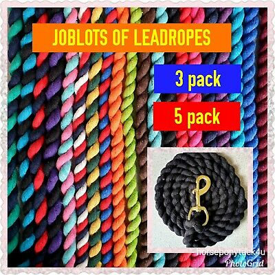B3G1F LEADROPE FOR HEADCOLLARS LOTS OF COLOURS SOLID OR TWIN 2m long