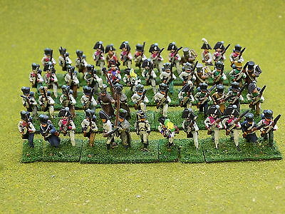15mm Napoleonic FRENCH INFANTRY x52 Painted 39674