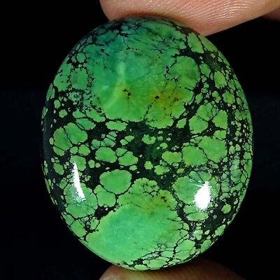 49.70Cts 100% NATURAL DESIGNER TIBET TURQUOISE OVAL CABOCHON UNTREATED GEMSTONE